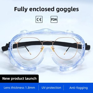 High Quality Customized Logo Eye Glasses Medical Safety Goggles for Work Protective