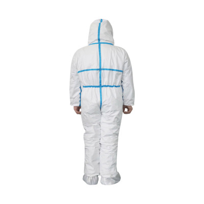 Rubber coverall/ chemical protective suit