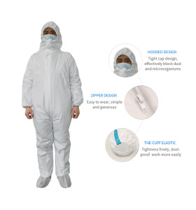 CCS EC Certificate Chemical Safety Suit Bio Chemical Protective Clothing