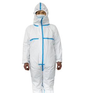 Chemical hazmat suit heavy duty omniseal