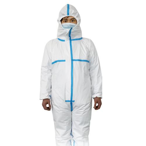 Chemical hazmat suit heavy duty omniseal