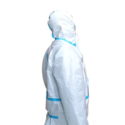 SMS Nonwoven Protection Suit Disposable Coverall Full Body Biological Safety Clothing Isolation Gown