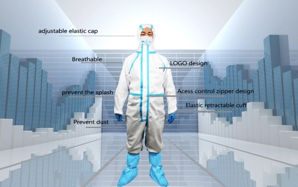 protective coveralls suit with DuPont Tyvek 1422A material