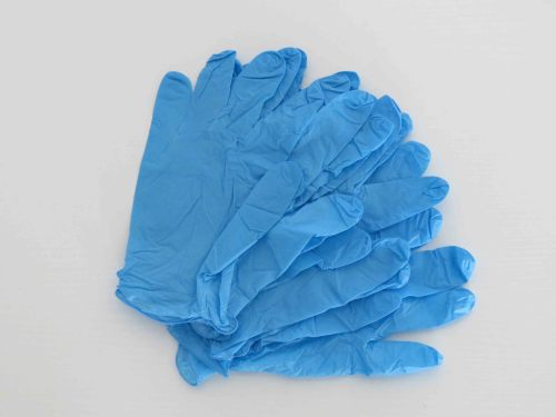 9 mil 6 mil blue black nitrile exam hand gloves examination use clean hands gloves