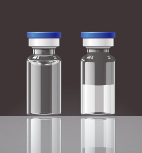 Abe glass vials for vaccine for injection