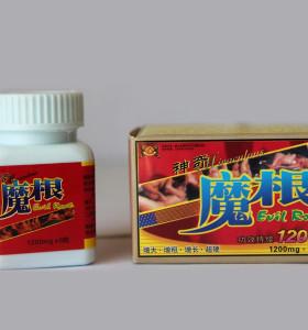 Pilules masculines d'amélioration de sexe de Mogen 1200mg de racine mauvaise pour le pénis plus grand et plus épais