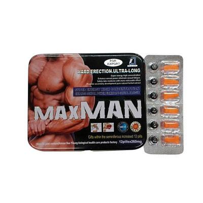 Pilules masculines ultra fortes d'agrandissement de pénis de fines herbes naturelles de Maxman