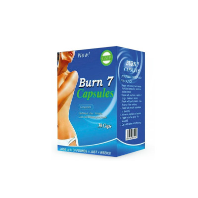 OEM Chinese Natural Burn 7 Weight Loss Slimming Diet Pills 30 Capsules