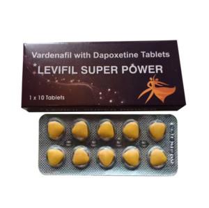 Levifil Super Power Vardenafil Dapoxetine Double Effect Sex Enhancement Pills for Men