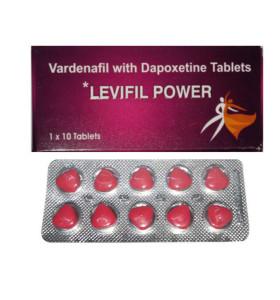 Levifil Power Vardenafil Pills à double effet Vardenafil Dapoxetine pour l'amélioration du sexe masculin