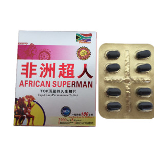 Píldoras de mejora de riñón de sexo masculino de Superman africano de ginseng de hierba natural 100% 2900mg