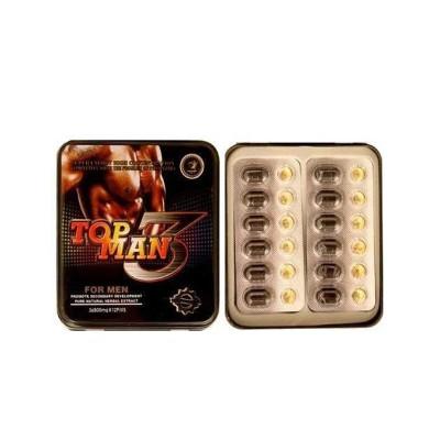 Powerful TOP MAN 3 Chinese Herbal Strong Formula Sex Enhancement Pills for Men