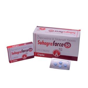 Original Suhagra Force 50mg Sildenafil and Dapoxetine Best Sexual Enhancement Pills for Men