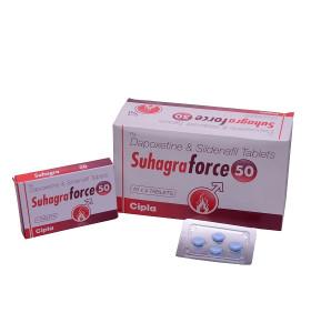 Original Suhagra Force 50 mg Sildenafil- und Dapoxetin-Tabletten für die PE- und ED-Behandlung