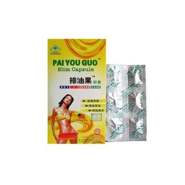 Original Natural Herb PAI YOU GUO Píldoras de dieta para perder peso de cápsula delgada