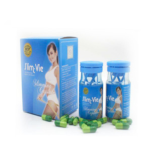 100% Natural Herbal Slim-Vie Weight Loss Slimming Capsule Body Fat Burning Diet Pills