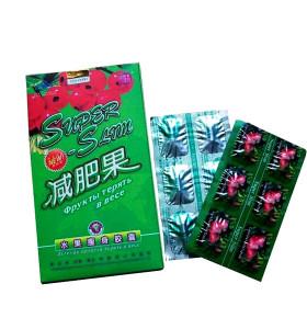 Píldoras adelgazantes dietéticas de la píldora de la pérdida de peso de la granada de Super Fruit original