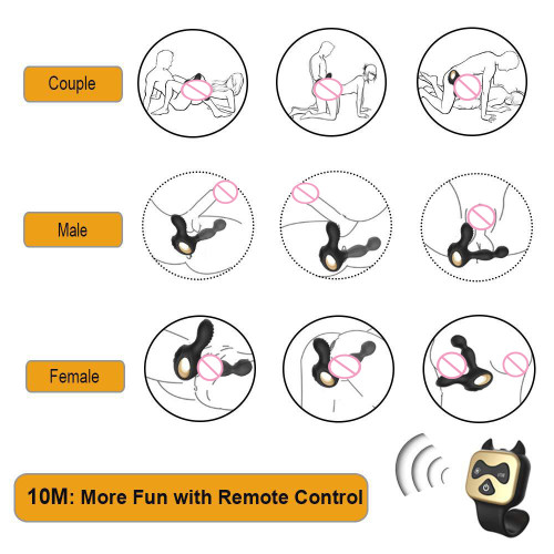 Anal plug male sex toy remote control rechargeable vestibular toy manufacturer wholesale