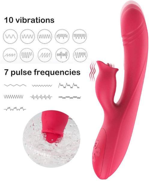 Women's telescopic stick av vibrator can lick massage stick G-point massage vibration can be heated shock rod massage appliance