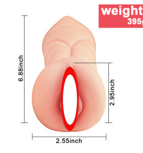 Real person double hole vagina inverted mold peach mouth male masturbation device tpe material non-odor aircraft cup