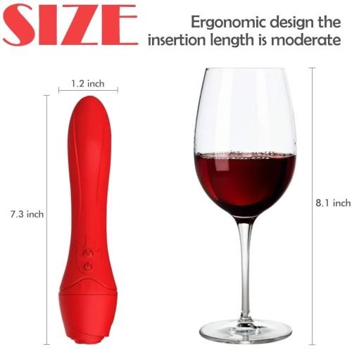 Heating Rose Vibrator for Anal Vagina Female Toys Adult Dildo Magic Plug Toys