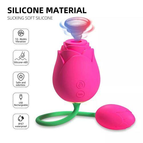 Rose Vibrator Clitoral Sucking with Ball Vibrating Egg G spot Clitoris Stimulator Vaginal Anal Sex Toy Masturbation