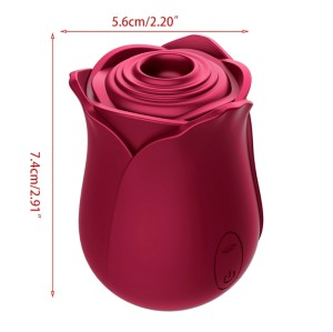 Women G-Spot Massager 3 Speed 7 Frequency Rose Sucking Stimulation USB Rechargeable Adult Sex Toy for Couples