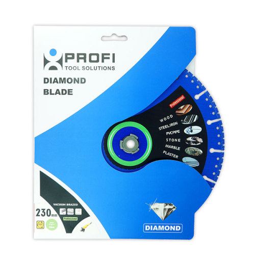Moretop vacuum brazed diamond blade 230mm multipurpose cutting
