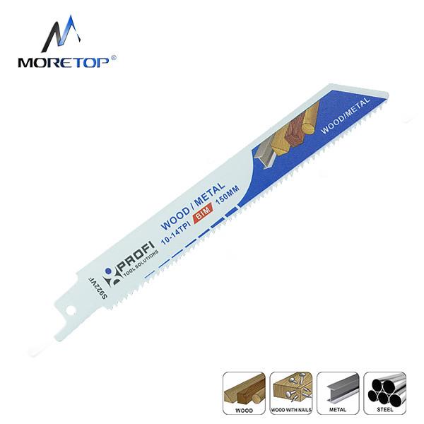 moretop wood & metal cutting recip saw blade S922VF 150mm