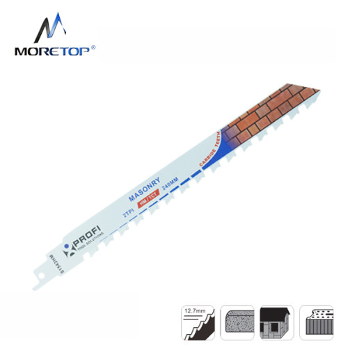 Moretop cutting for bricks recip saw blade S1543HM 240mm