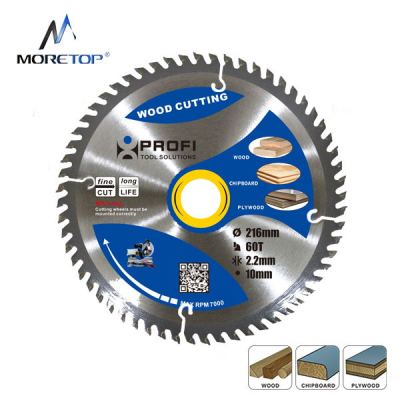 Moretop TCT circular saw blade 216mm wood cutting