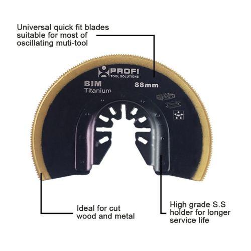moretop oscillating multi-tool BIM segment saw blade 18202001 88mm