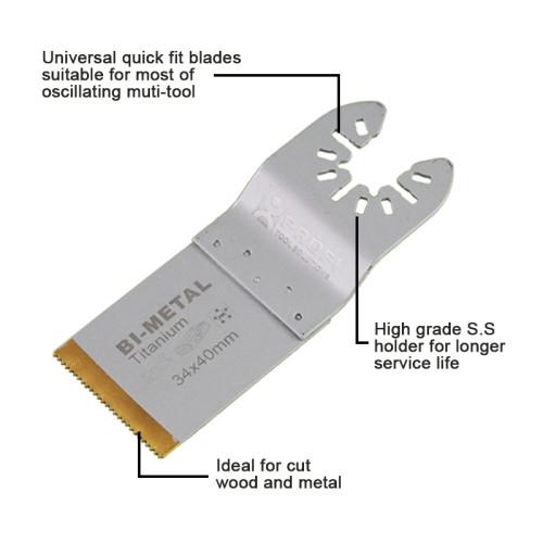 moretop oscillating multi-tool BIM titanium plunge cut blade 18201002 34mm