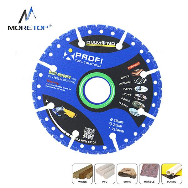 Moretop vacuum brazed multi-purpose diamond blade 115mm 10122003