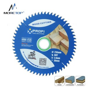 Moretop TCT wood cutting blade for DIY users 216mm 11101020