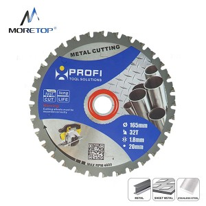 Moretop industrial metal cutting blade 165mm 11205003