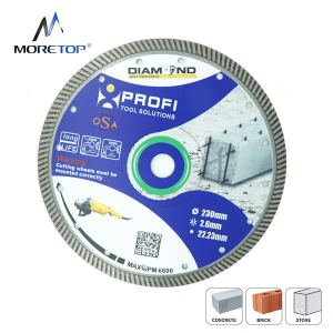 Moretop Diamond blade with Turbo cutting rim for reinforced concrete 230mm 10120002