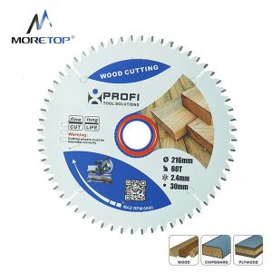 Moretop industrial wood cutting blade 216mm 11203004