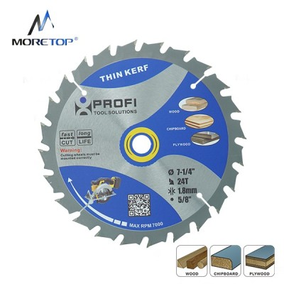 Moretop thin kerf wood cutting circular saw blade 7-1/4 11003002A