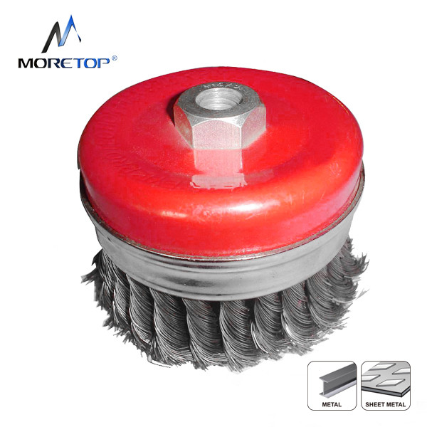 Moretop Twist Knotted Wire Cup Brush 75mm 15101002
