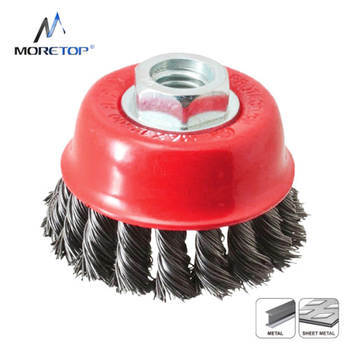 Moretop Twist Knotted Wire Bowl Brush 75mm 15102002
