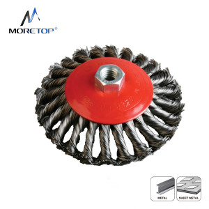 Moretop Twist Knotted Bevel Brush 100mm 15103002