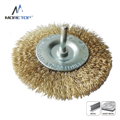 Moretop Crimped Wire Wheel Brush, With 6mm Shank 75mm 15006004