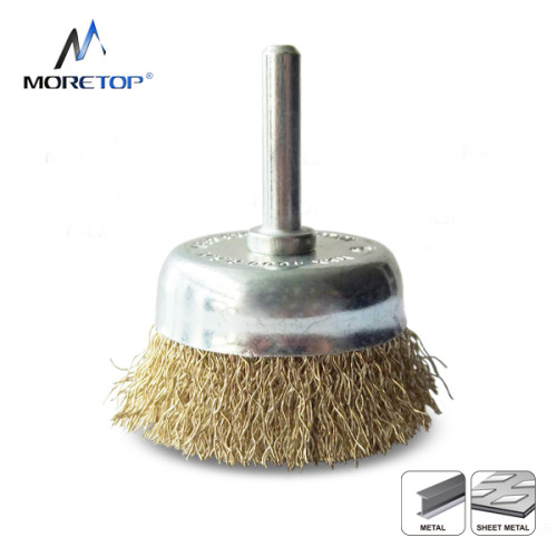 Moretop Crimped Wire Cup Brush, Shaft-mounted 65mm 15005002