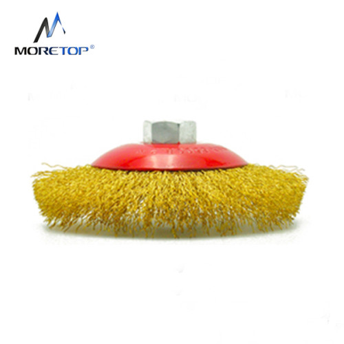 Moretop Crimped Wire Bevel Brush 100mm 15002002