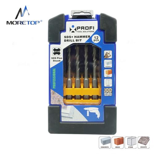 Moretop 12pcs SDS plus Hammer Drill Bit Set 20602001