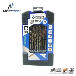 Moretop 25pcs HSS-CO% Drill Bit Set 20601002