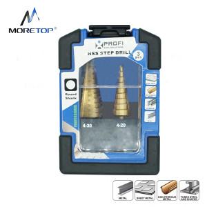 Moretop 3pcs HSS Step Drill Bit Set 20601006