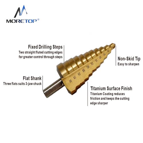 Moretop HSS Step Drill Bit 6-30mm 13030010