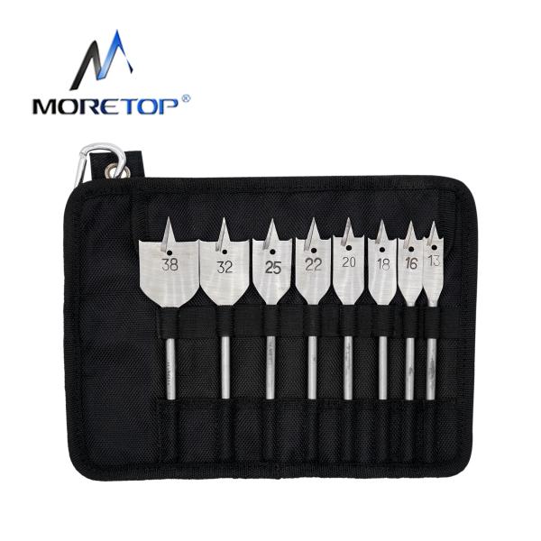 moretop 20401003 10pcs Wood Flat Drill Bit Set
